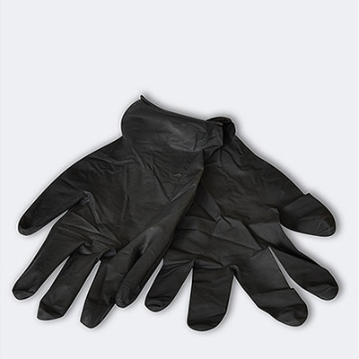 Gants de protection jetables en latex noir - 3 paires