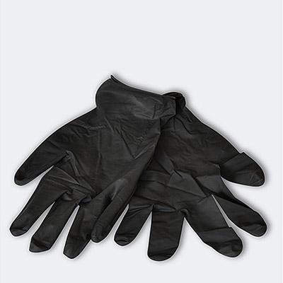 Gants jetables en latex noir pour peintures standard fr - Gant latex noir ...