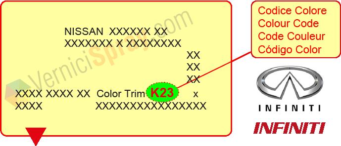 peinture voiture infiniti toutes les les couleurs d. Black Bedroom Furniture Sets. Home Design Ideas